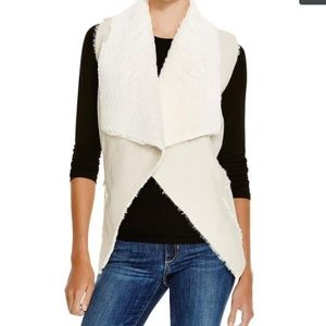 Blank NYC Casual Vest Faux Fur Leather Lined